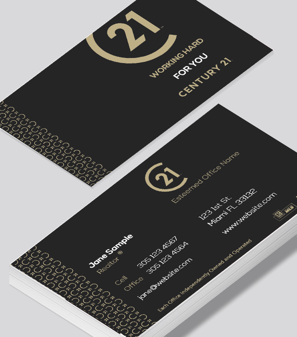 Century 21 Commercial Business Cards Business Card Modern Modern Business Cards Design Classy Business Cards