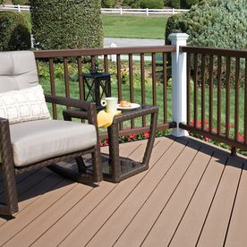 Shop Style Selections Natural Brown Ultra Low Maintenance Ulm Composite Decking Common 1 In X 6 In X House Deck Composite Decking Composite Decking Boards