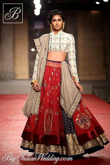 Anju Modi Lehenga Indian Bridal Wear Delhi Couture Week Fashion