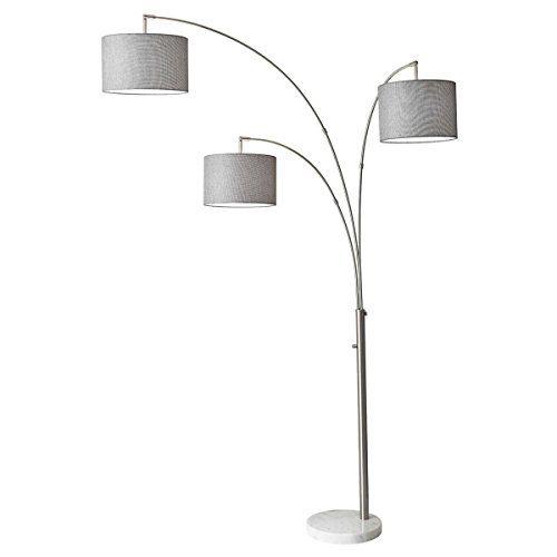 Adesso 4250 22 Bowery Arc 3 Light Floor Lamp Steel Smar Https Www Amazon Com Dp B01j9ydch0 Ref Cm Sw R Pi Dp U X Igh1bbm Tree Floor Lamp Floor Lamp Lamp