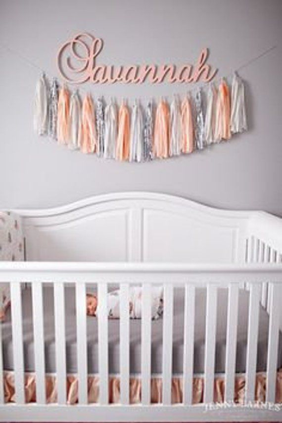 15 Inches Baby Wall Name Gold Room Decor