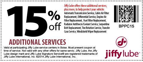 Jiffy Lube Signature Service Oil Change Coupon Coupons Coupons