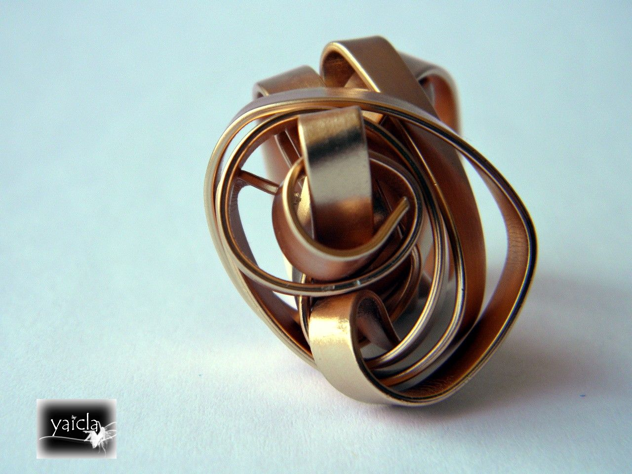 ring ,anillo en hilo de aluminio plano | Alambre (Wire) | Pinterest ...