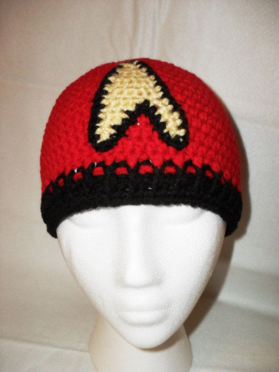 ADULT crochet STAR TREK beanie hat winter cap by TheNerdyHooker ...