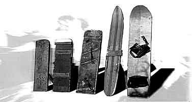 Pioneros del snowboard - Snowboard pioneers - retro ski
