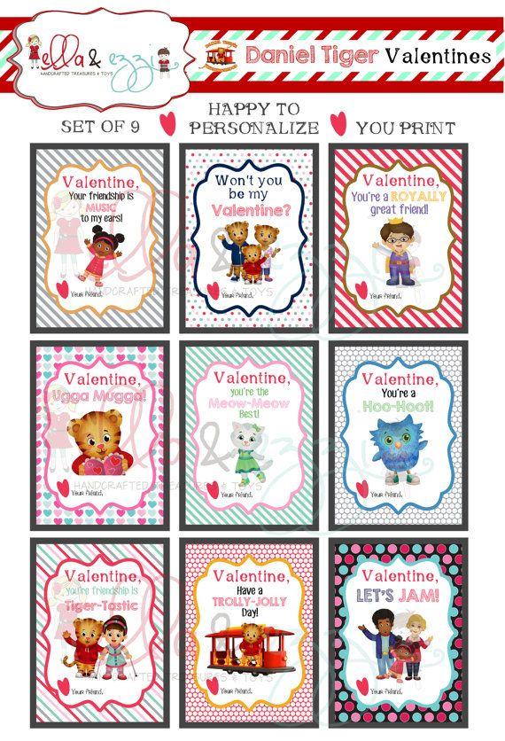 Daniel Tiger Printable Valentines Just Purchaseu003du003du003du003eDownloadu003du003d