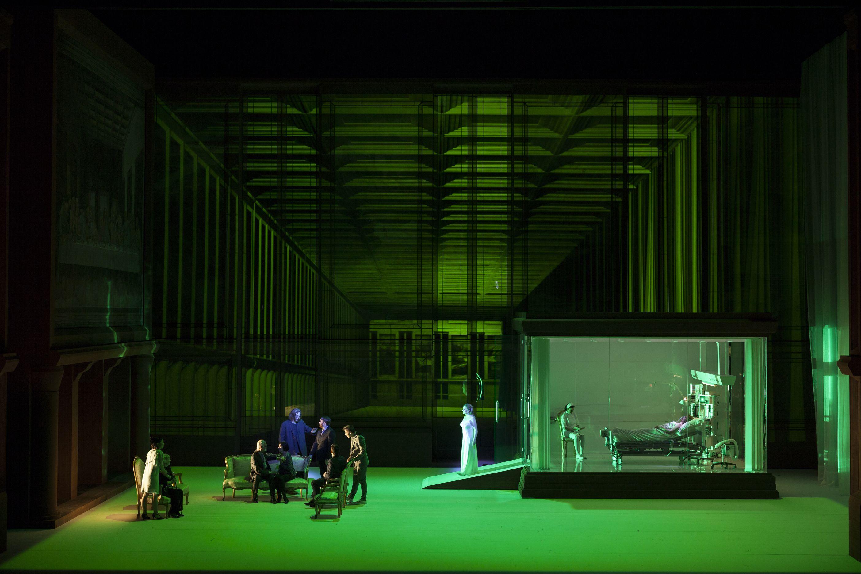 Alceste by Gluck, Opera Lyon, 2017. Dir: Alex Ollé / La Fura dels Baus, Set: Alfons Flores, LD: Marco Filibeck