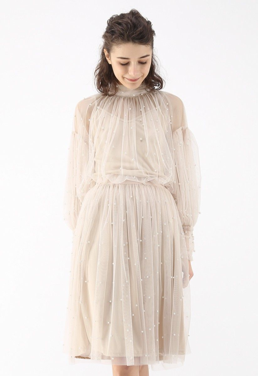 Surely Sweet Pearls Mesh Top in Cream  Fashion, Mesh dress, Dresses