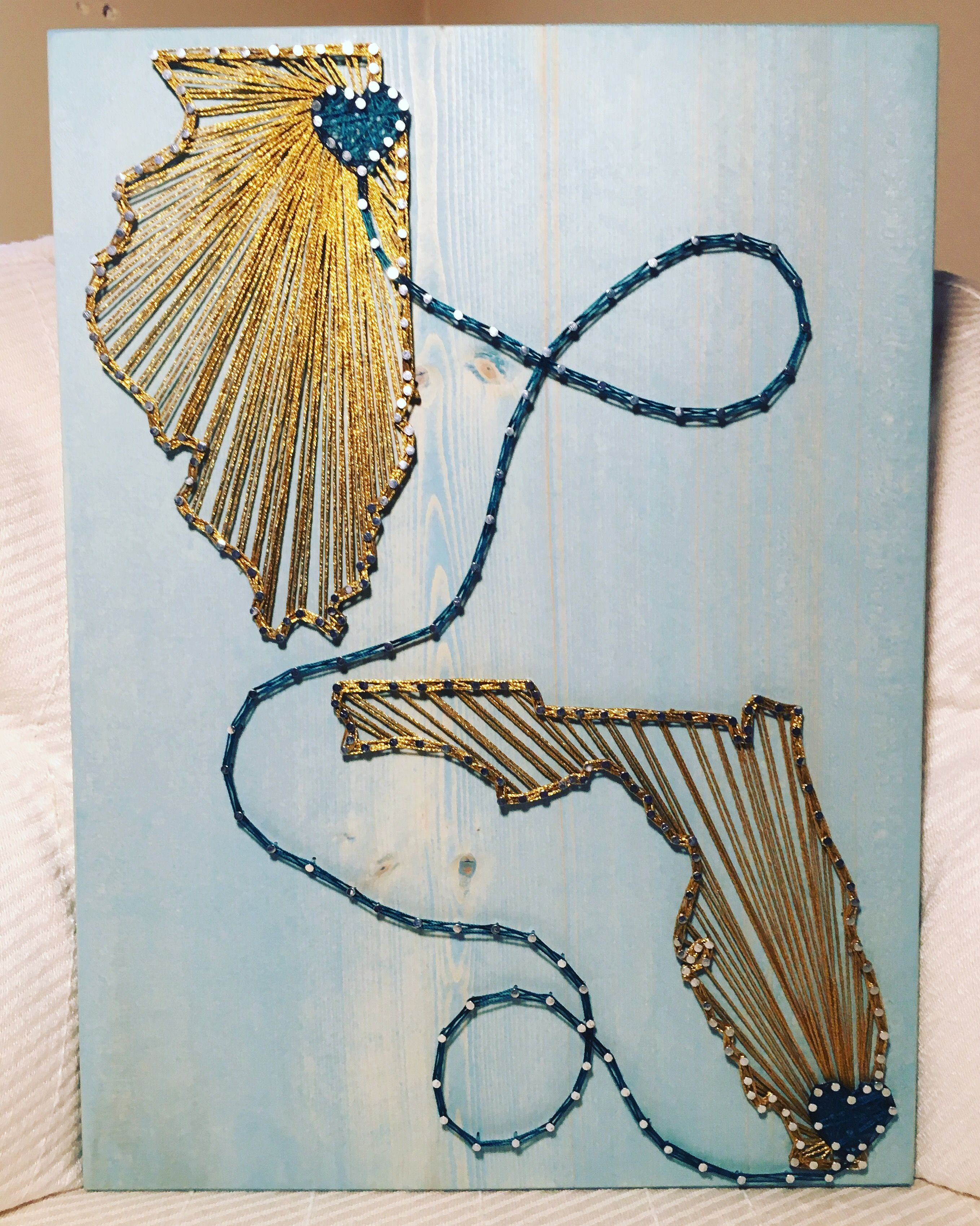 Etsy Art Custom Two States Countries String Art Sign 2 State Wall Art