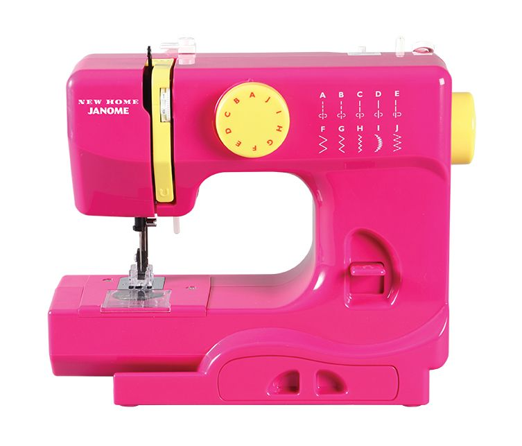 Janome Derby Portable Sewing Machine Fast Lane Fuchsia Janome Interesting Singer Ez Stitch Toy Sewing Machine
