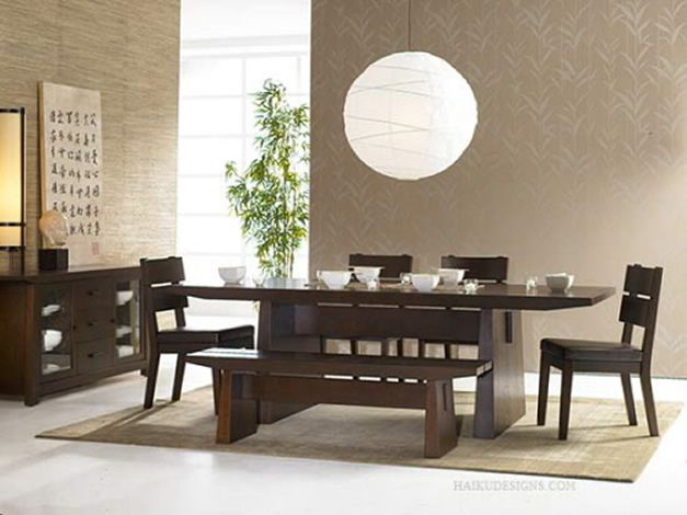 Zen Forniture Style Interior DecoratingDining Room