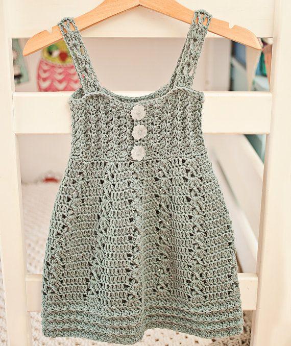 Crochet dress PATTERN - Sea Breeze Dress (sizes up to 10 years ...