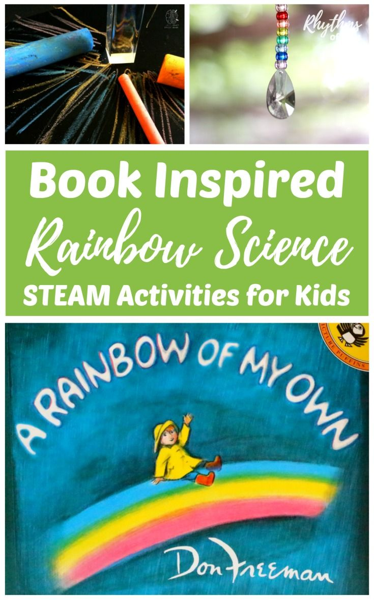 """These STEAM homeschool activities are inspired by the book, """"A Rainbow of My  Own."""" Learn about the science ..."""
