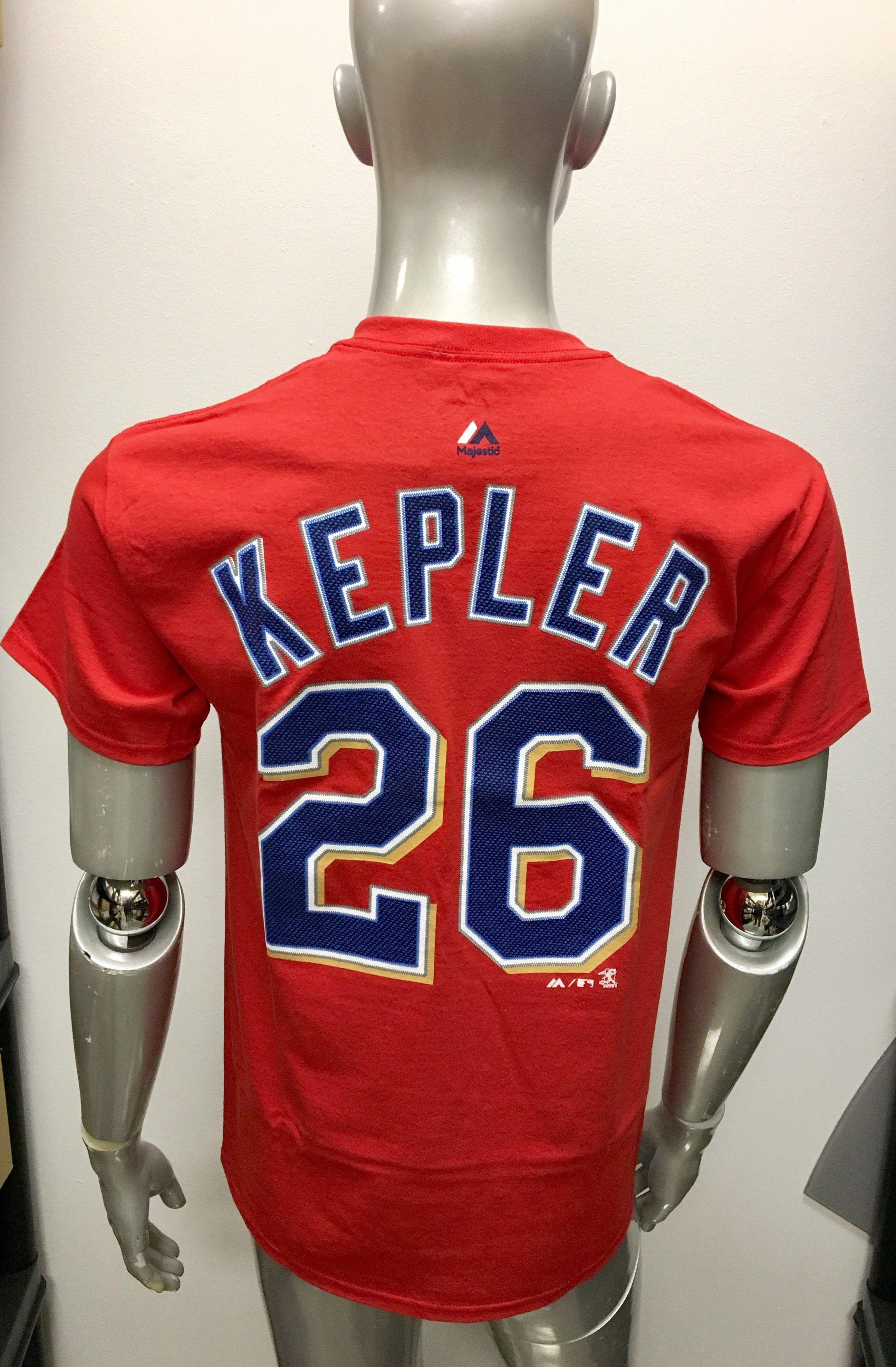 buy online 34d65 c84eb Men's Max Kepler Minnesota Twins Majestic Red Name & Number ...