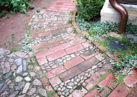 Photo of Patchwork paving: paving with old material
