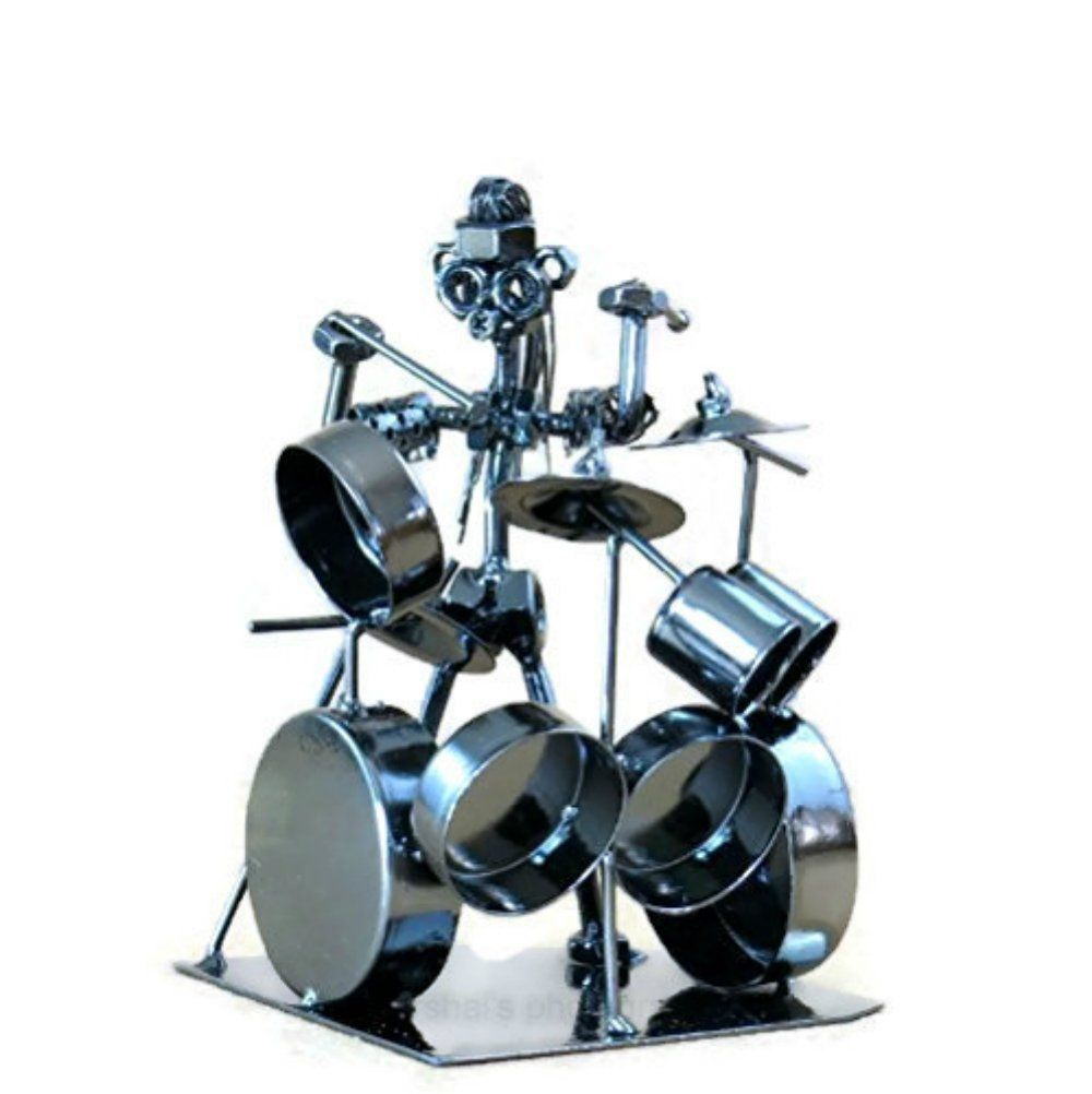 Gift for drummer metal rock drummer recycled collectible
