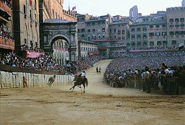Palio Horse race in Siena, Italy - I've been to Siena but I've never seen the race. Maybe someday.... :)