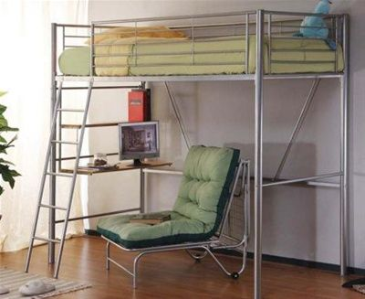 Lpd Sit N Sleep Single Metal Bunk Bed With Futon Jakes room