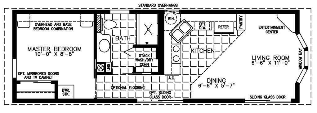 The Deloro Cottage, DC-1371A – Park Model Home Floor Plan ...