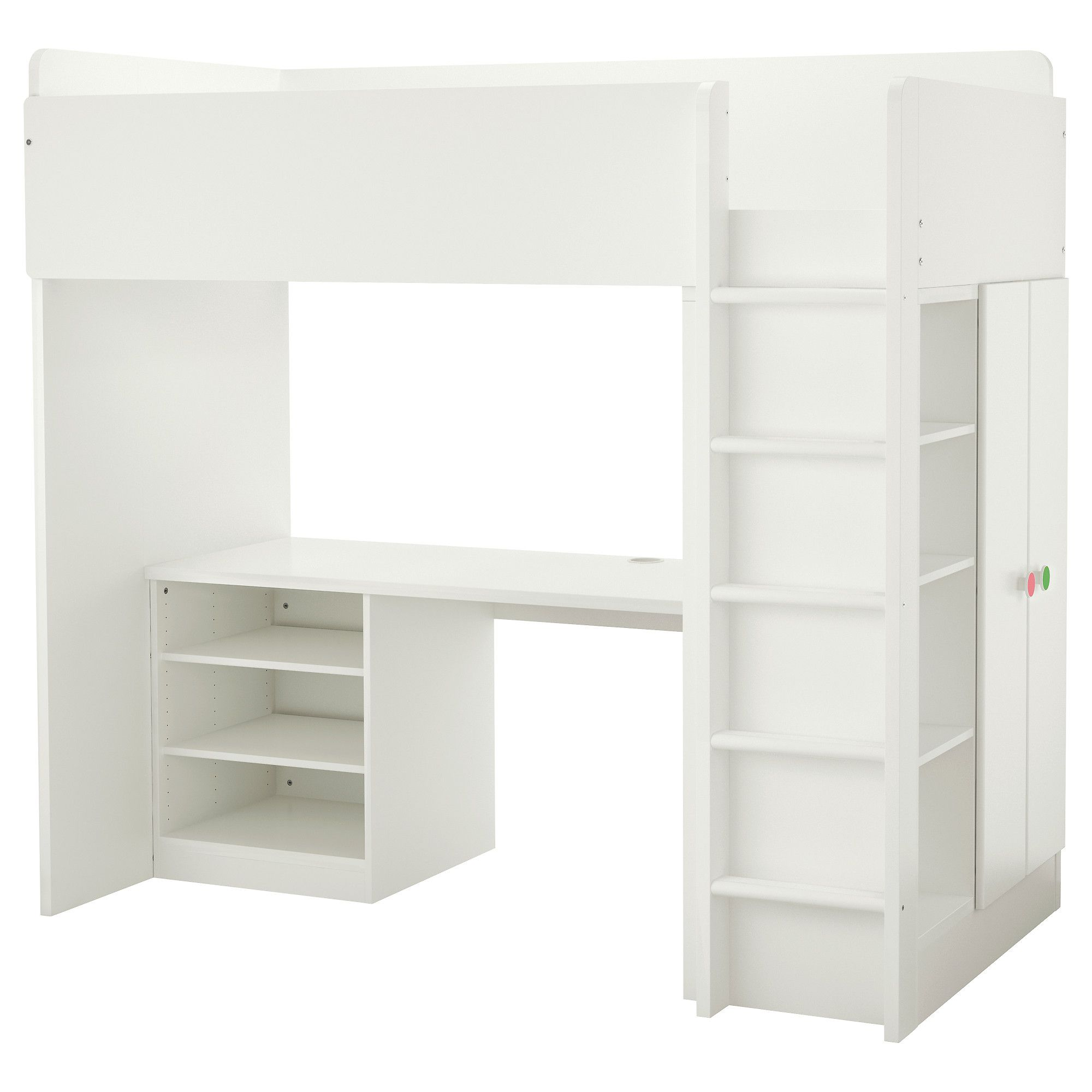Pin By Annora On Home Interior Loft Bed Desk White