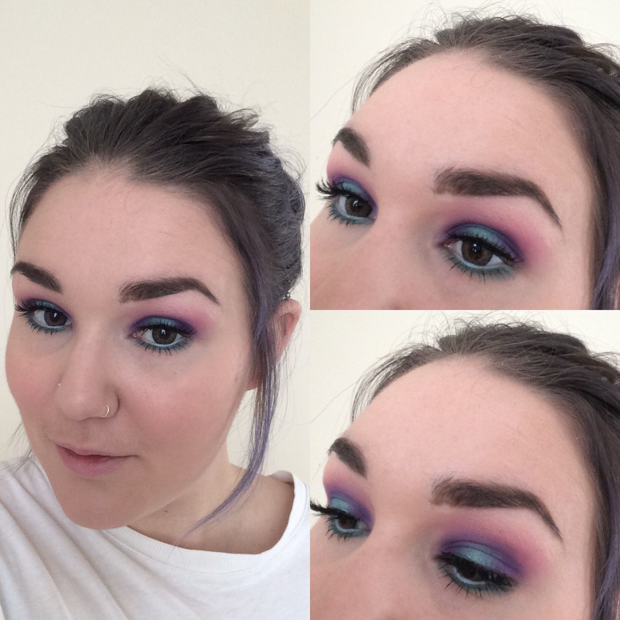 bright colourful peacock eyeshadow bare minerals eye shadow in