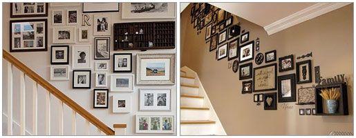 agencer vos cadres de fa on originale dans les escaliers. Black Bedroom Furniture Sets. Home Design Ideas