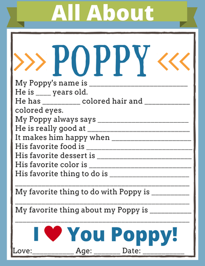 It's just a picture of Grandpa Questionnaire Printable for all about my grandpa