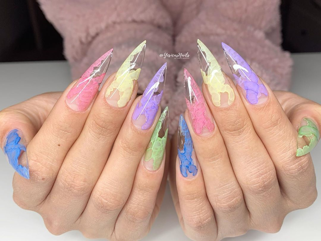 Yesica S Nails On Instagram I Offer Online Classes For Gelx And Gel Manicures Dm Me For The Detail In 2020 Gel Manicure Manicure Water Color Nails