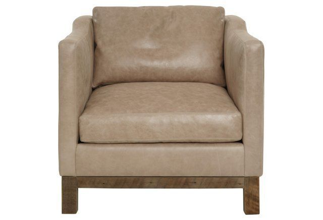 Cara Leather Chair, Cashew