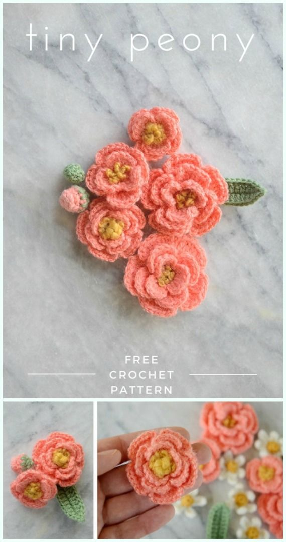Easy Crochet Flower Appliques Free Patterns for Beginners | crochet ...