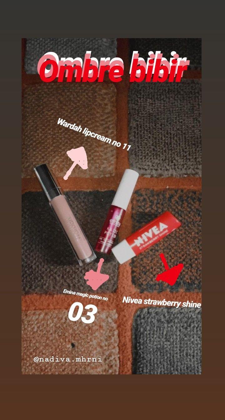Ombre Bibir Produk Makeup Pewarna Bibir Bibir