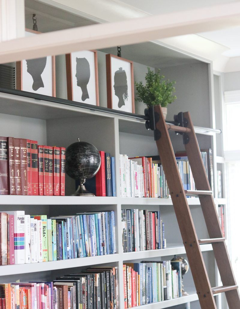 Rolling library ladder housey pinterest library ladder