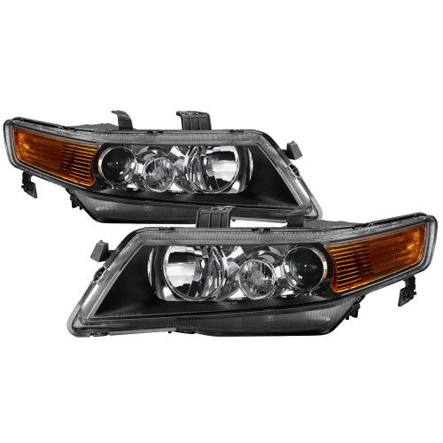 Black Smoked 2004-2008 Acura TSX CL9 LED Tube Projector