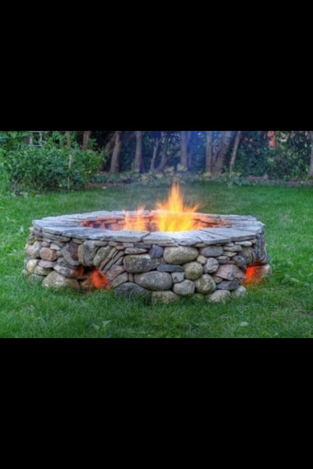 Built In Air Circulation Vents An Foot Warmers In This Cool Fire Pit Backyard Outdoor Fire Outdoor Living