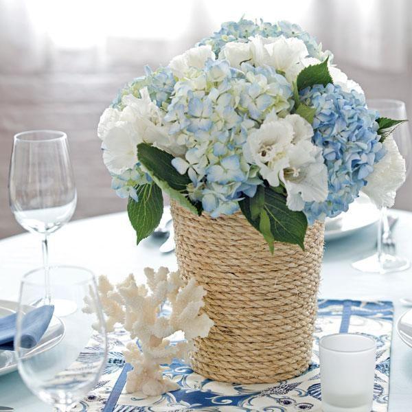 RUSTIC SEASIDE   BEACH WEDDING : DIY Wedding Centerpieces - Wrap ...
