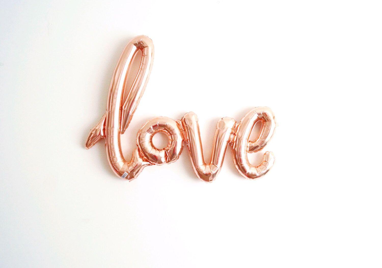 ENVÍO gratis rosa oro amor aire relleno jumbo mylar globo boda compromiso nupcial ducha caligrafía script - globo llenado de aire de StephShivesStudio en Etsy https://www.etsy.com/es/listing/267688833/envio-gratis-rosa-oro-amor-aire-relleno