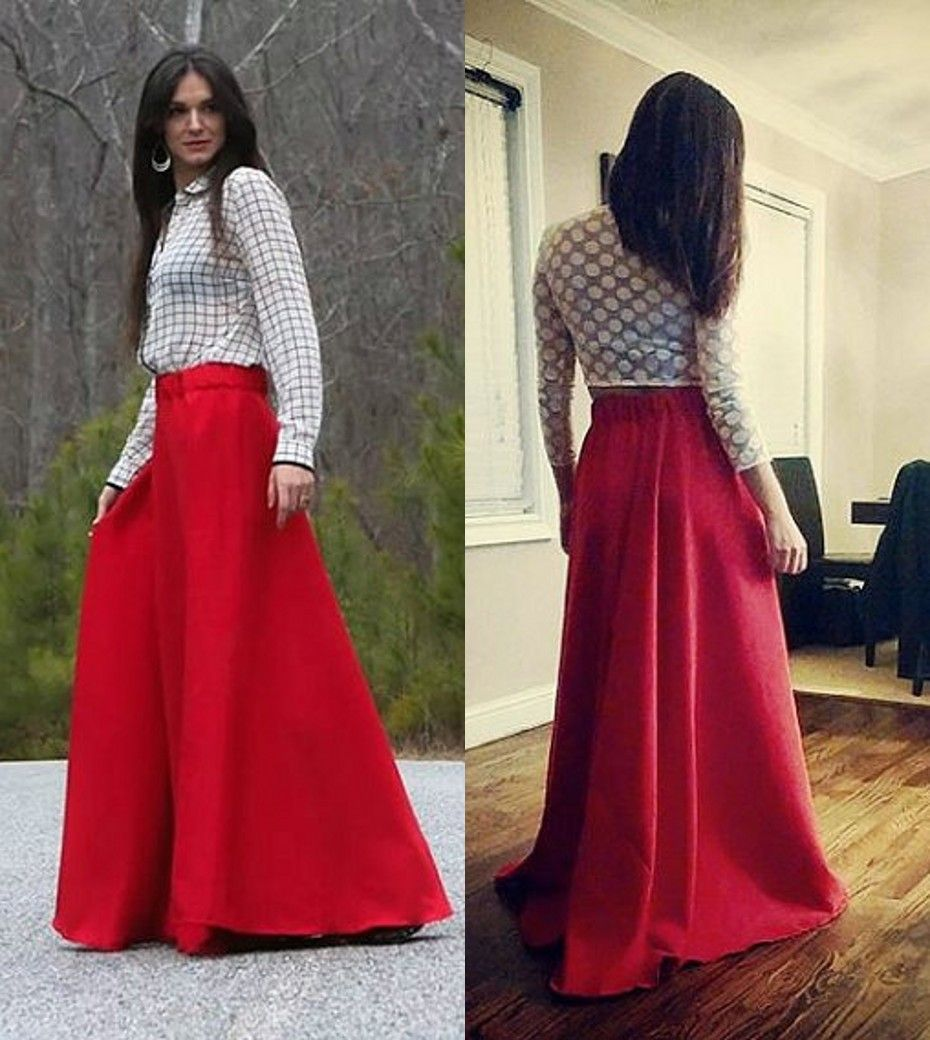 fashionable long red skirt - Google Search | Stuff to Buy ...