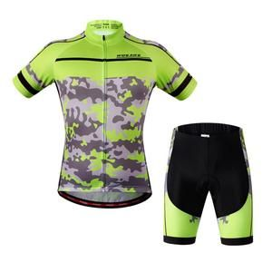 Men Cycling Bike Short Sleeve Jersey Shorts Set Bicycle Sportswear Clothing Suit