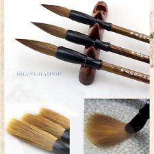 3x Cepillos Caligrafía Brochas Pincel de Tinta China para Escritura Pintura