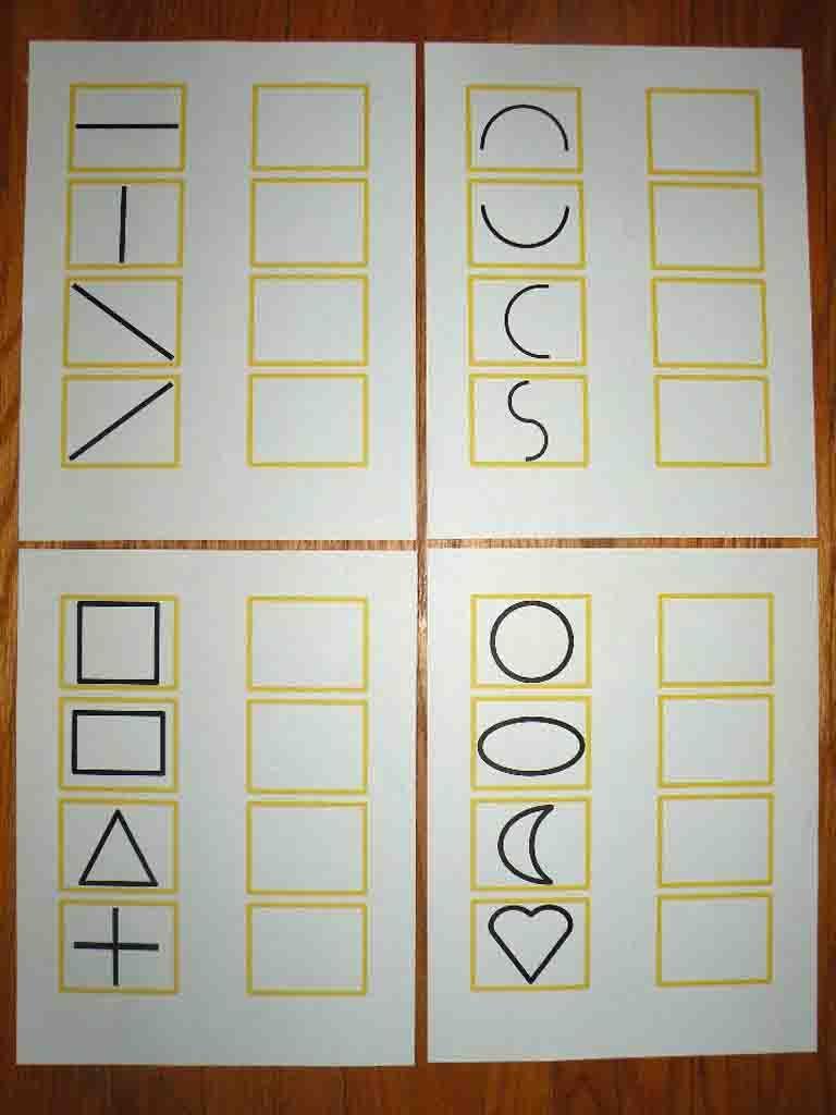 copy lines and shapes autism education school autism education preschool writing. Black Bedroom Furniture Sets. Home Design Ideas