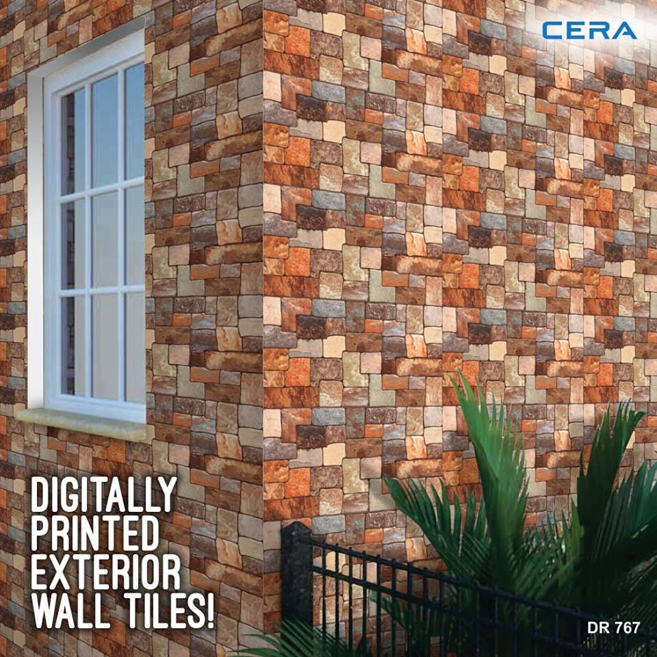 With The Beautiful Range Of Cera S Digital Wall And Floor Tiles Make The Exterior Walls Of Your House Lively Too Ref Exterior Outdoor Structures Outdoor