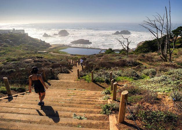 Lands End park at the mouth of the Golden Gate Bridge. Photo: Mason Cummings/Parks Conservancy