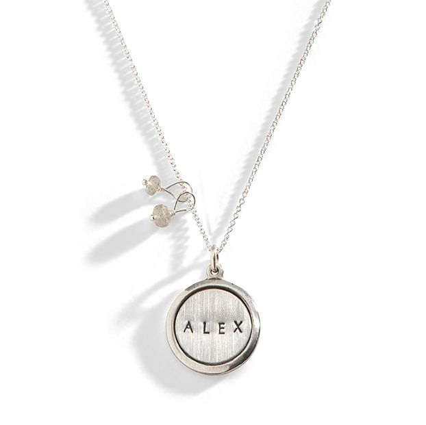 The baseJet Set Personalized Charm Necklacedesign includes a 16