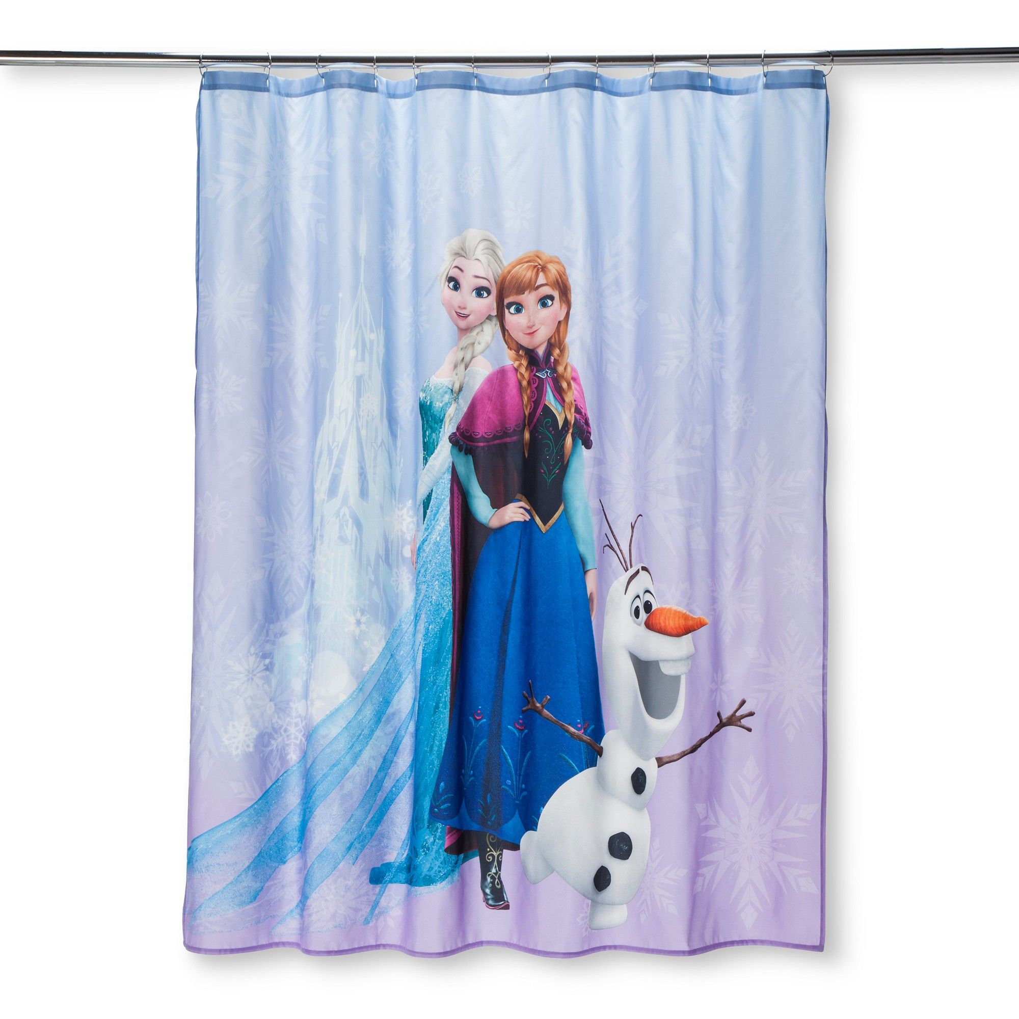 Disney Frozen Purple Shower Curtain Purple Blue Disney Frozen