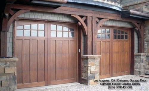 Classic Traditional Custom Wood Carriage House Style Garage Doors