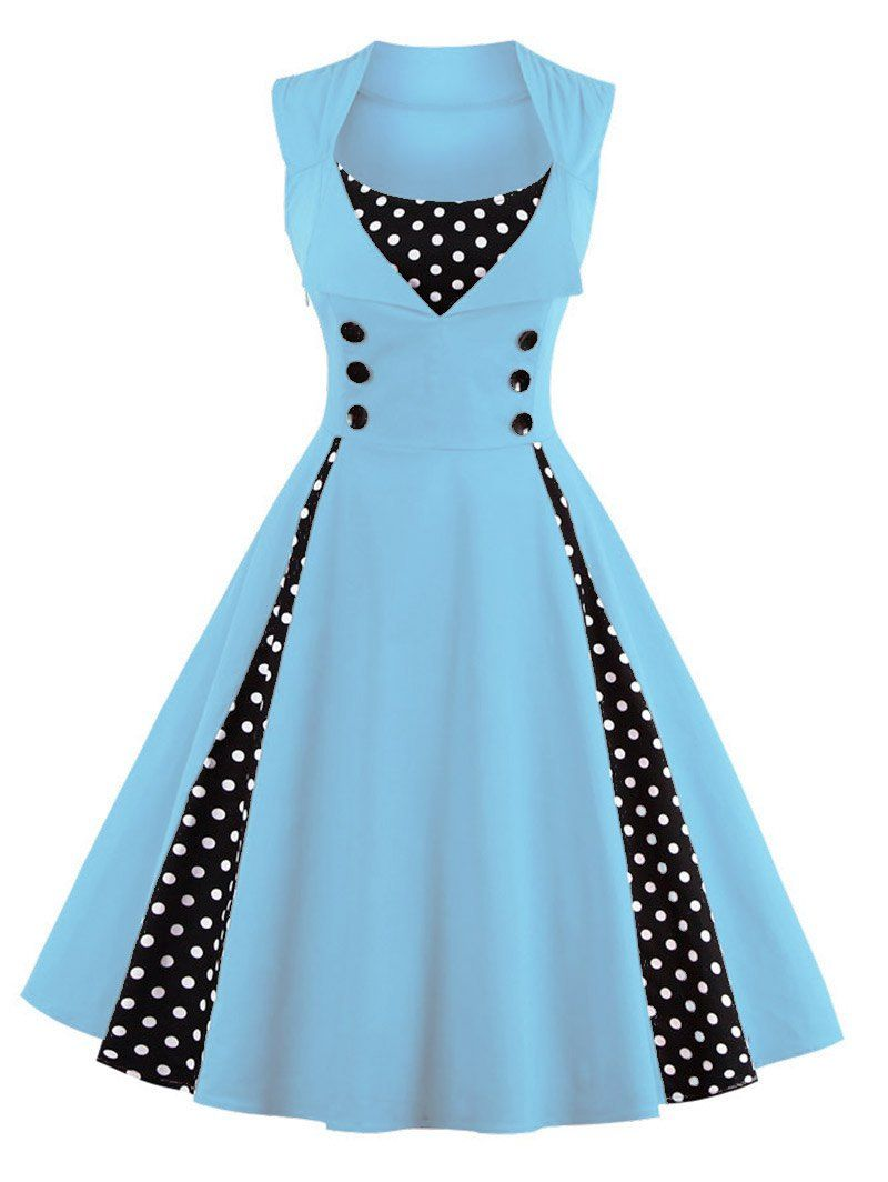 Polka Dot Midi Prom Dress | Prom, Lovers and 50th