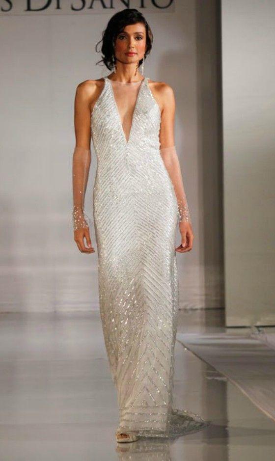 Elegant Beaded Wedding Dress for Older Brides Over 40, 50, 60, 70 ...