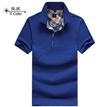 Men's Style Polo Shirts, Summer Casual cotton sleeve Solid Slim Tees Male Golf Sport