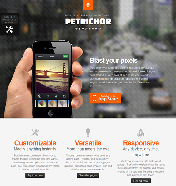 This Responsive WordPress Landing Page Theme Comes With Header - Wordpress contact us page with google map