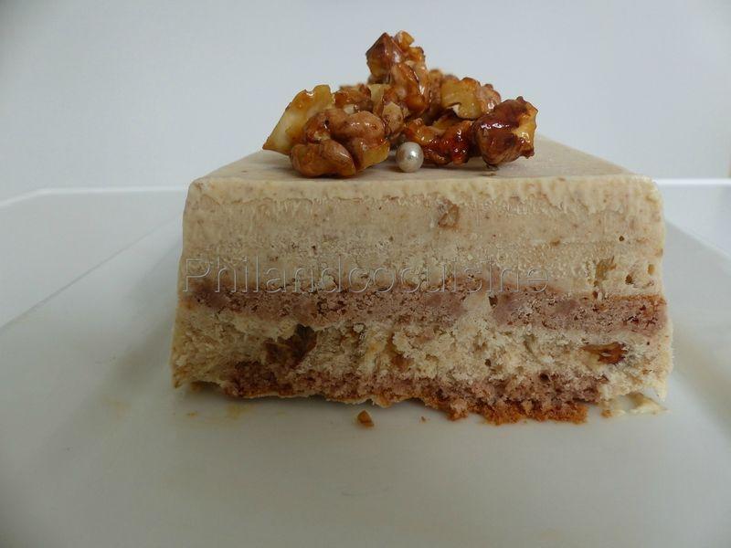 Bûche glacée au mascarpone et aux noix caramélisées – Philandcocuisine